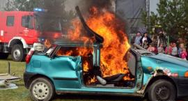 Najpierw wypadek, później pożar [VIDEO]