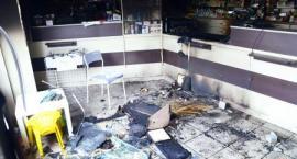 Kto chce spalić aptekę? Nagranie z monitoringu