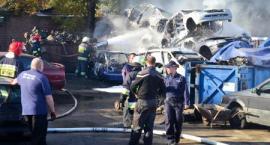 Spłonęły auta przeznaczone do rozbiórki