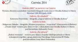 Wystawy Ośrodka Kultury w czerwcu