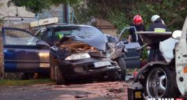 Czołowe zderzenie w Godzikowicach [VIDEO]