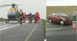 Wypadek na A4. Kierowca w ciężkim stanie
