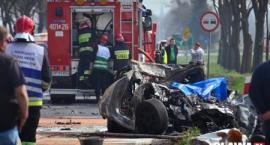 Tragiczny wypadek na trasie Oława-Brzeg. Kierowca spłonął [VIDEO]