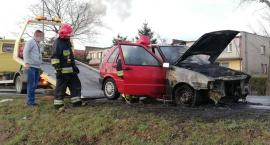 Samochód spłonął w kilka minut