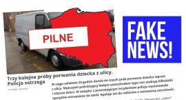 Fake News o porwaniach. To wszystko jest zmyślone