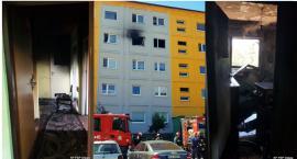 Ogień nie pozwolił im wyjść, mieszkańcy wołali o pomoc