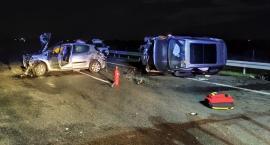 Poważny wypadek. Stado dzików wbiegło na autostradę