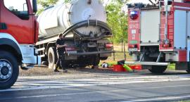 Poważny wypadek z udziałem motocyklisty