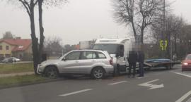 Kolizja dwóch pojazdów na Kutrowskiego