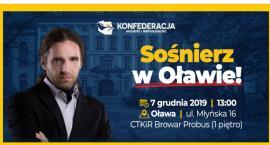 Poseł Konfederacji Dobromir Sośnierz w Oławie