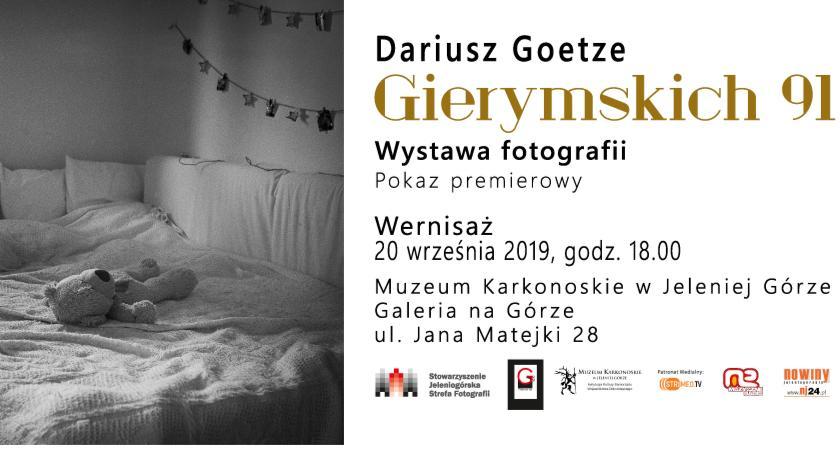 Wystawy, Wernisaż wystawy Dariusza Goetze Gierymskich - zdjęcie, fotografia