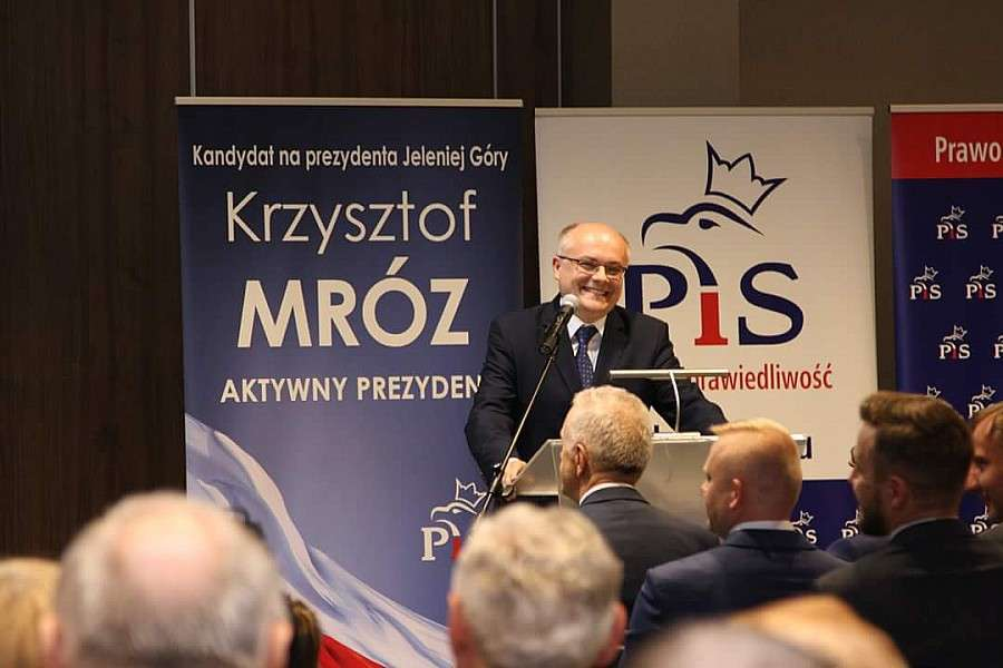 Samorząd, Lipiński Bielan udzielili poparcia Krzysztofowi Mrozowi - zdjęcie, fotografia