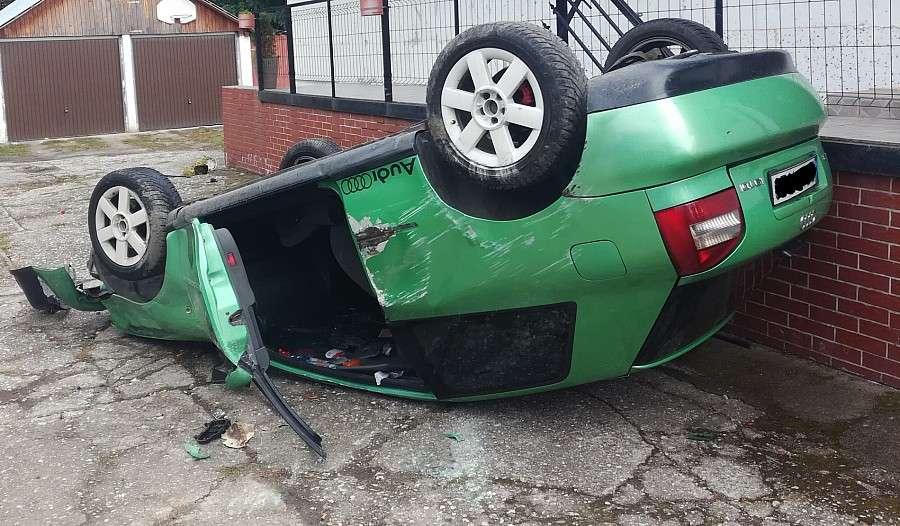 Wypadki drogowe, Wypadek Krzyżowej - zdjęcie, fotografia