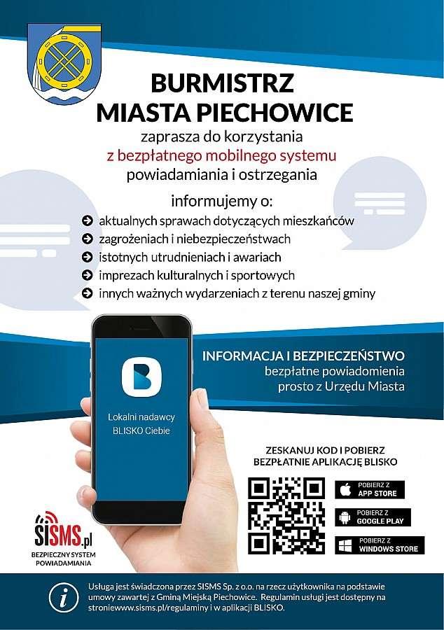 Turystyka, Miasto Piechowice rozpoczęło nadawanie ogólnopolskiej aplikacji BLISKO - zdjęcie, fotografia