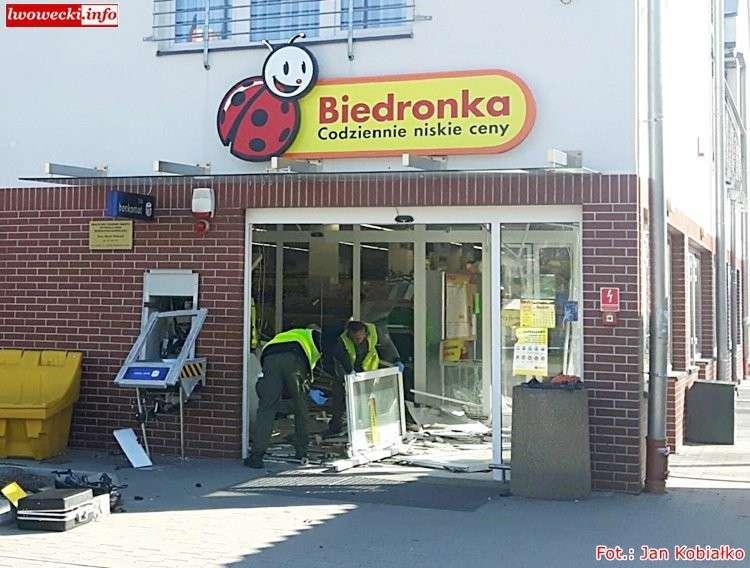 Kronika Kryminalna, Wysadzili bankomat Biedronce Bolesławcu - zdjęcie, fotografia