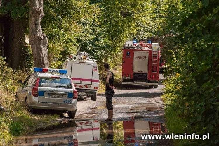 Pożary, Pożar budynku wielorodzinnego Pilchowicach - zdjęcie, fotografia