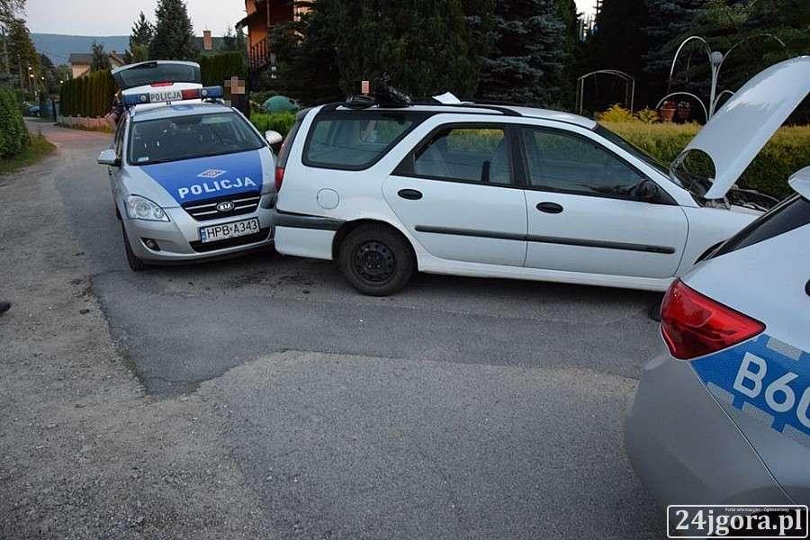 Z ostatniej chwili, Policyjny pościg Mysłakowicach - zdjęcie, fotografia
