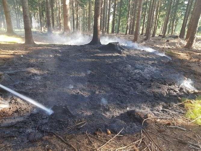 Pożary, podpala Świeradowie Zdroju - zdjęcie, fotografia