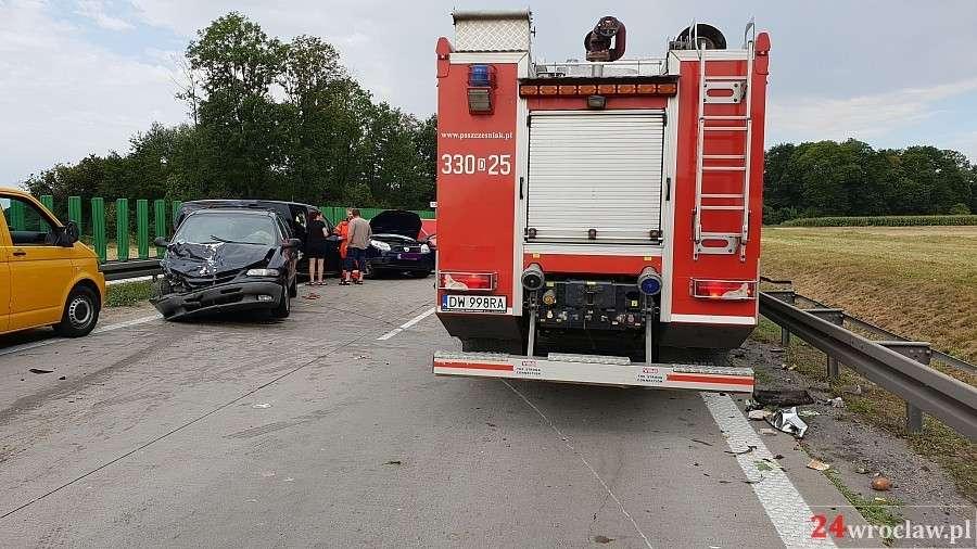 Wypadki drogowe, Kolejna tragedia autostradzie Wrocław Kostomłoty - zdjęcie, fotografia