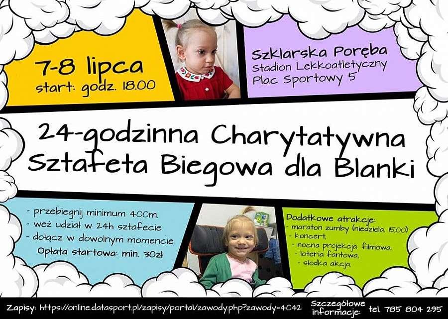 Wydarzenia, Szklarska Poręba godzinna Charytatywna Sztafeta Biegowa - zdjęcie, fotografia