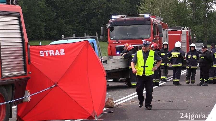 Wypadki drogowe, Tragiczny wypadek trasie Jelenia Góra Gryfów żyją osoby - zdjęcie, fotografia