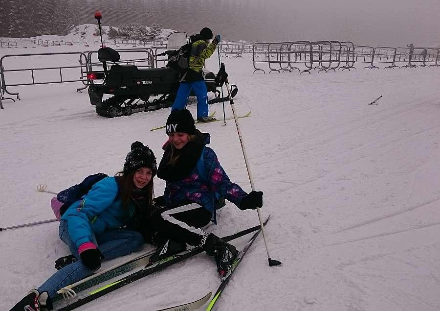 Warsztaty, Uczniowie jeleniogórskiej Dwójki nartach biegowych Jakuszycach - zdjęcie, fotografia
