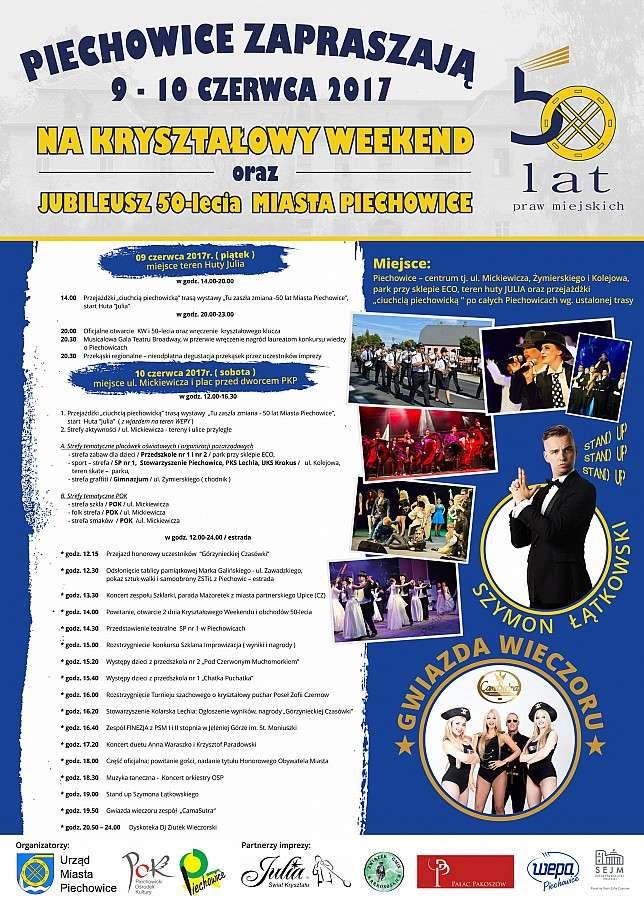 Zapowiedzi imprez, Piechowice zapraszają Kryształowy Weekend! - zdjęcie, fotografia