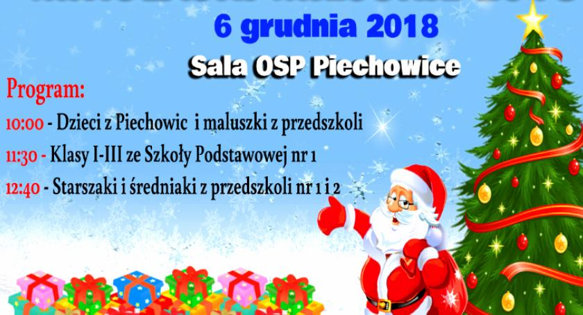 Wydarzenia, Mikołajki Miejskie Piechowicach - zdjęcie, fotografia