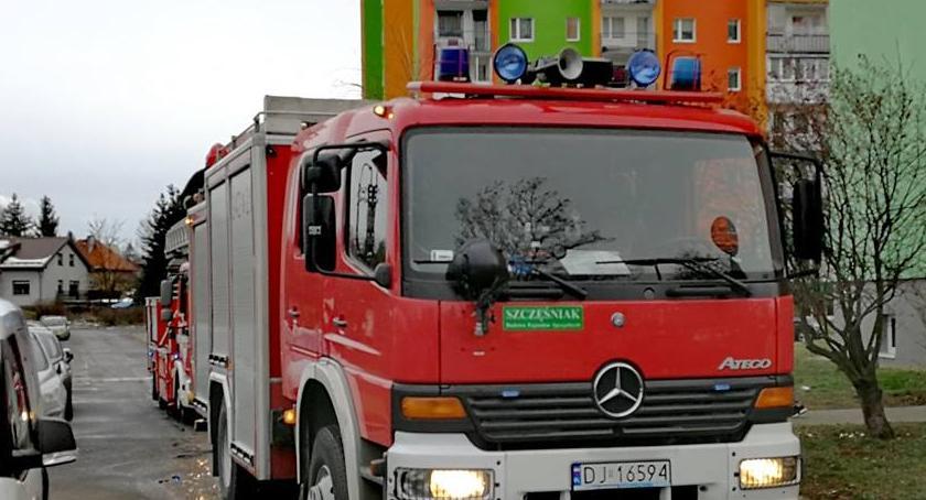 Interwencja straży pożarnej przy ulicy Działkowicza