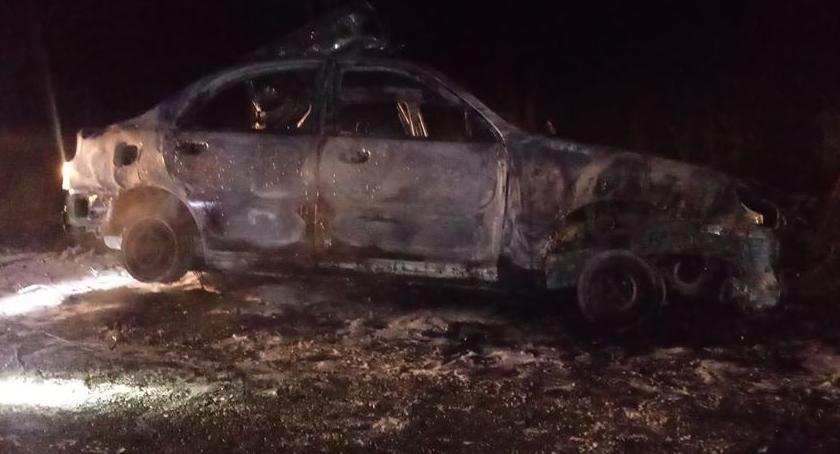 Pożary, Pożar samochodu - zdjęcie, fotografia