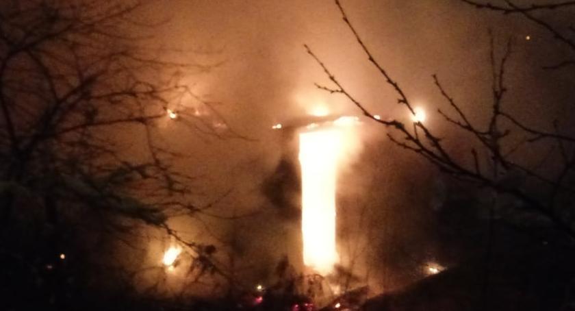Pożary, Pożar altanki ulicy Krakowskiej Włącz Zello - zdjęcie, fotografia