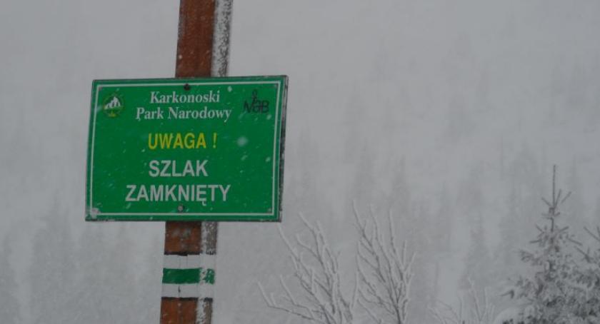 Ważne komunikaty, Zamknięty Wąwóz Kamieńczyka - zdjęcie, fotografia