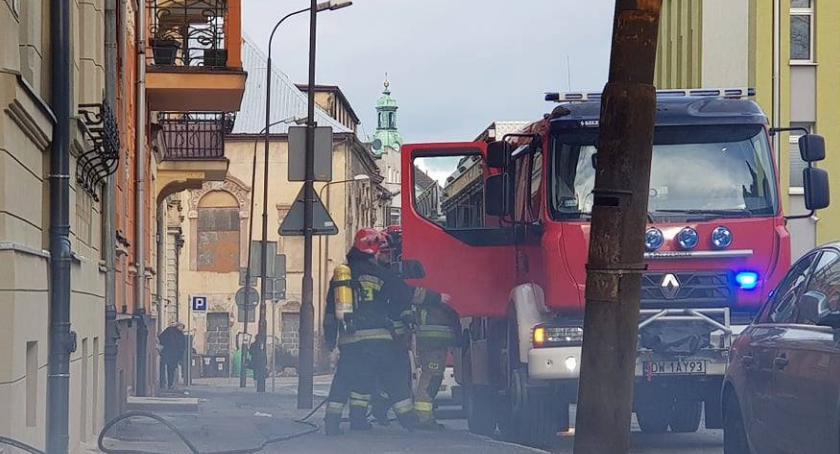 Pożary, Jelenia Góra Zadymienie budynku Matejki - zdjęcie, fotografia