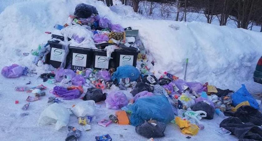 Ludzie, Śmieciowe problemy Szklarskiej Porębie - zdjęcie, fotografia
