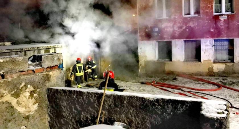 Pożary, Pożar komórki Wrońskiego - zdjęcie, fotografia