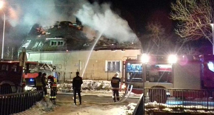 Pożary, Wojcieszowie spłonął - zdjęcie, fotografia