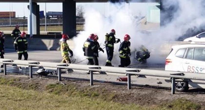 Kobieta spłonęła żywcem na autostradzie A4