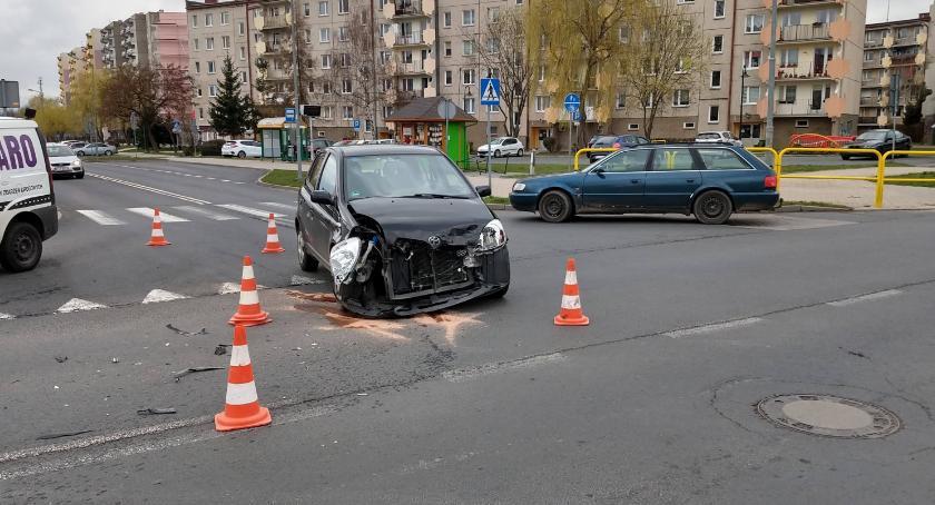 Wypadki drogowe, Zderzenie - zdjęcie, fotografia
