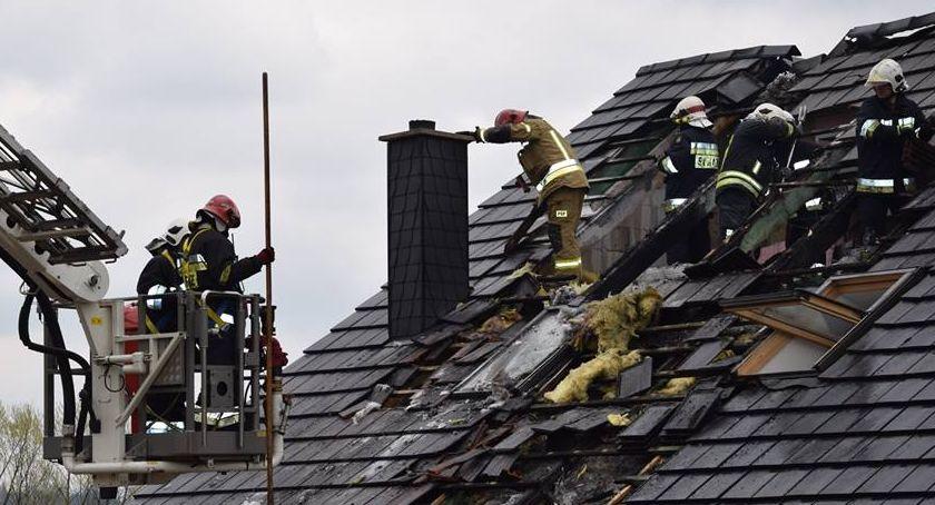 Pożary, Pożar stolarni Łomnicy - zdjęcie, fotografia