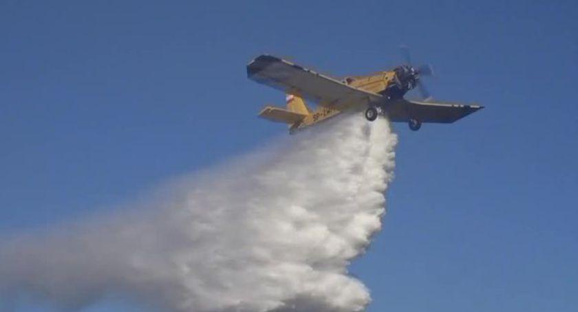 Pożary, Pożar okolicach Jagniątkowa akcji samoloty gaśnicze - zdjęcie, fotografia