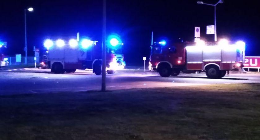 Interwencje, Ogień stacji benzynowej - zdjęcie, fotografia