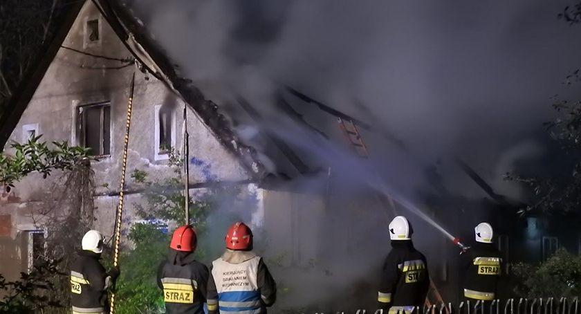 Pożary, Piechowice Pożar opuszczonego budynku - zdjęcie, fotografia