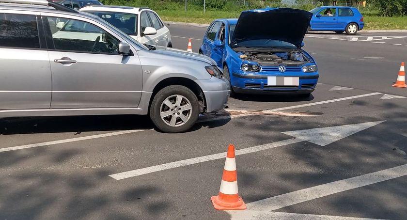 Wypadki drogowe, Zderzenie trzech samochodów Ogińskiego - zdjęcie, fotografia