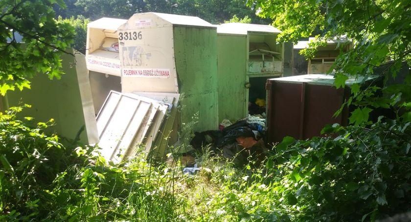 Ważne komunikaty, Gdzie zniknęły kontenery ubraniami - zdjęcie, fotografia