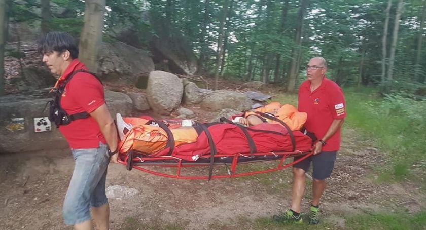 Ważne komunikaty, Wypadek Single Tracku Rowerzysta ciężko ranny - zdjęcie, fotografia