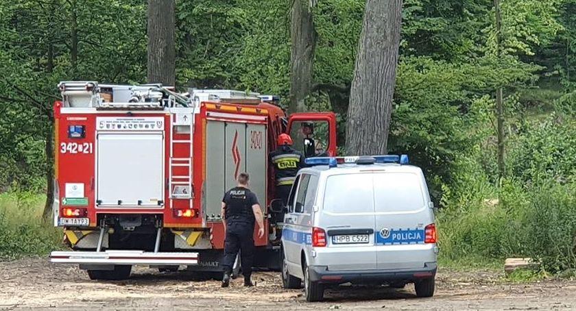 Interwencje, Przerażające odkrycie Maciejowej Znaleziono zwłoki wiszące drzewie - zdjęcie, fotografia