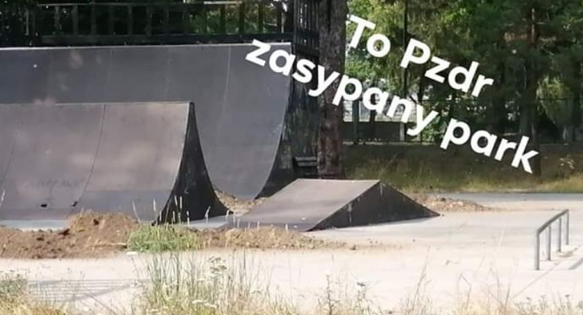 Inwestycje, Zasypali skatepark! gdzie trenować - zdjęcie, fotografia