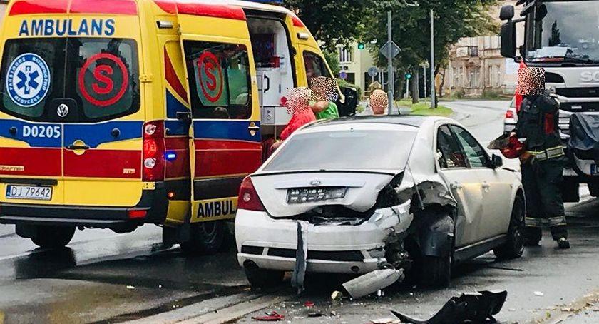 Wypadki drogowe, Kolejne zderzenie Wolności Sprawca zbiegł - zdjęcie, fotografia