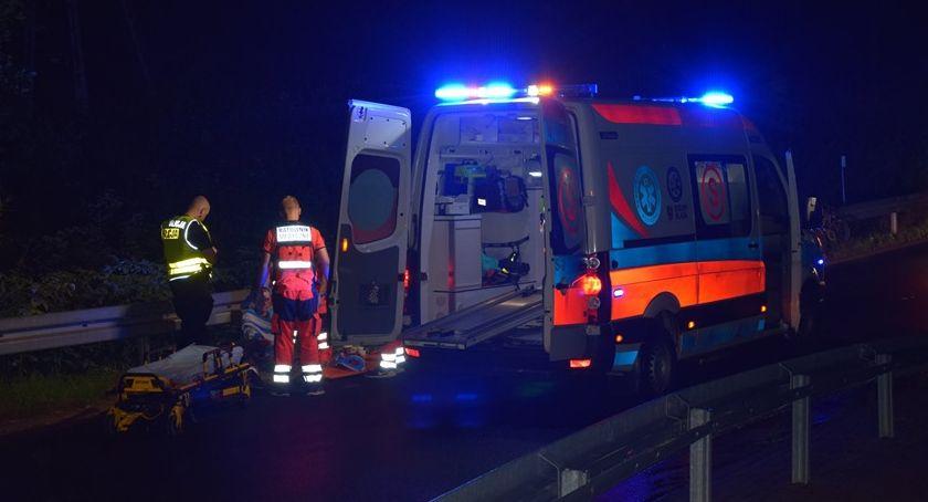 Wypadki drogowe, Rowerzysta potrącony Szklarskiej Porębie - zdjęcie, fotografia