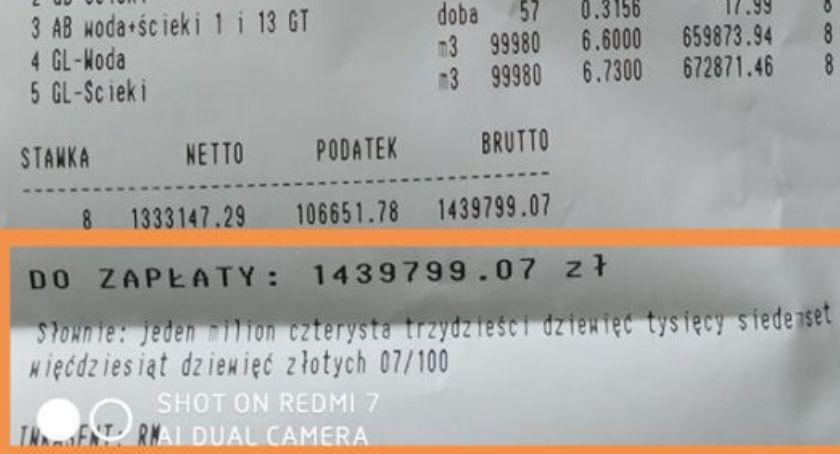 Usługi, Prawie miliona złotych rachunku wodę - zdjęcie, fotografia